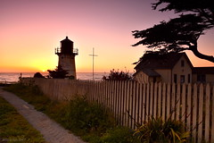 Coastal Sunset|Hl Point Montara Lighthouse, CA (miltonsun) Tags: coast sunset hlpointmontaralighthouse dusk seascape bay ngc bayarea wave ocean shore seaside california westcoast pacificocean landscape outdoor clouds sky water rocks mountains rollinghills sea sand beach cliff nature farm architecture building evening lighthouse road path trees flowers field highway1 wildflowers