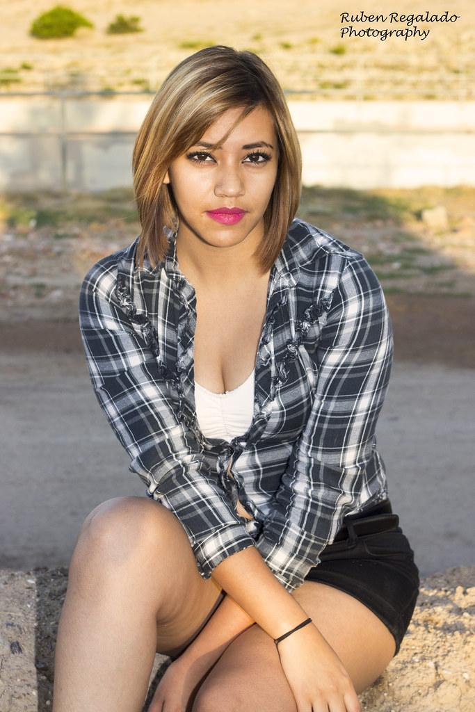 Hot and sexy blonde latina