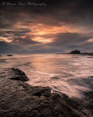A Bamburgh Morning (.Brian Kerr Photography.) Tags: bamburgh bamburghcastle beach northumberland seascape seas seascapephotography photography landscapephotography outdoor outdoorphotography sunrise colour ocean scene views rocks clouds sky naturallandscape natural nature photo photographer atmosphere waves sea water