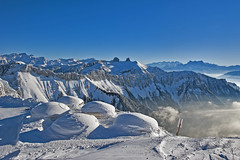 After the winter's storm, Après la tempête aux Rochers-de-Naye (VD) . No. 6271. (Izakigur) Tags: alps alpes alpen alpi thelittleprince myswitzerland musictomyeyes vd valais cantonvaud suisseromande romandie nikond700 nikkor2470f28 nikkor lesrochersdenaye winter lhiver swiss suïssa suizo suiza suisia schwyz schnee light photography svizzera svizra