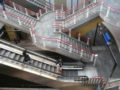 Railway station Blaak, Rotterdam, The Netherlands (hjreitsma) Tags: railway station blaak rotterdam escalator stairs