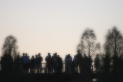 Ghosts in the Machine (Heaven`s Gate (John)) Tags: uluru ayers rock australia sunset sunrise silhouette johndalkin heavensgatejohn tourists people trees bw black white blur 25faves