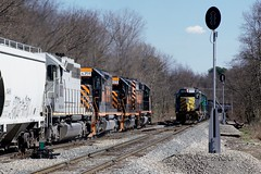 W&LE 3034 6982 Meet Hopedale Crossover 218 213 3/29/17 (Poker2662) Tags: wle 3034 6982 meet hopedale crossover 218 213 32917