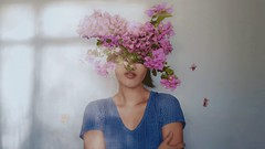 257/365 Blooming Wallflower (Katrina Y) Tags: selfportrait flowers head headless artsy art artistic windowlight 2017 365project conceptual creative concept mood
