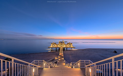 """ The Sellin's Pier Pathway "" (Light Levels Photoworks) Tags: seebrücke sellin ostsee germany allemagne architecture architektur landschaft landscape paysage hauser haus dämmerung water wasser nacht castle beleuchtung blue blaue brücke bridge before sunrise clouds d750 deutschland dusk wetter perspectives see finally light lights hour hdr nikon time nikond750 licht lichter morning wolken world sonnenaufgang photo photography stunde twillight view sweet strand sonnenuntergang meer ozean küste"