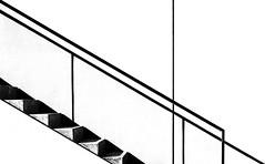 simplicite´III (Lunor 61) Tags: abstract abstrakt minimal minimalismus minimalistisch minimalism urban architecture architektur graphic linien lines textures diagonale stairs bw sw black schwarz weis white ireneeberwein