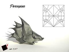 Porcupine (-sebl-) Tags: blois porcupine origami sebl paper square uncut symbol