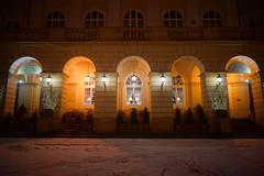 Lviv Town Hall at Night (tarmo888) Tags: sel16f28 sonyalpha sonyα nex7 geotaggedphoto geosetter sooc photoimage фотоfoto year2016 special beenwaiting nightshot snow lumi снег ukraine україна ukrayina украи́на украина lviv lwów lvov lemberg львів львов leopolis lwow autohdr unesco