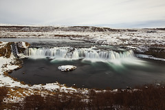 Faxi Lady! (wilbias) Tags: winter water snow long waterfall cascade exposure iceland faxi faxifoss