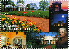 postcard - Monticello (Jassy-50) Tags: postcard virginia monticello thomasjefferson jefferson multiview unescoworldheritagesite unescoworldheritage unesco worldheritagesite worldheritage whs linen people deckleedged