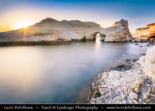Cyprus - Agios Georgios Pegeia - Thalassines Spilies Sea Caves at Sunset