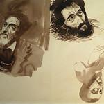 DELACROIX Eugène - Têtes, Etudes d'après la Gravure de L'Autoportrait du Titien (drawing, dessin, disegno-Louvre RF10599) - 0 thumbnail