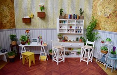 Mini Momoko Office/Craft Room (Girl Least Likely To) Tags: dollhouse dollscene dollroom diorama craftroom office miniatures toys rement