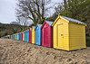 Beach Hut Wide Angle (Brian The Euphonium) Tags: beachhuts llanbedrog sigma1020mm pentax ks2 topazadjust wideangle northwales colourful