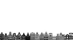 classic amsterdam (amsterdam, netherlands) (bloodybee) Tags: 365project amsterdam netherlands holland europe skyline house building architecture roof window bw white