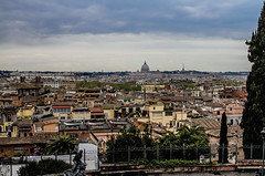 Across Rome (NikNak Allen) Tags: italy roman city roof roofs buildings architecture old history travel high view sky