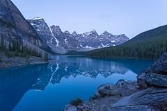 Banff's Blue Reflections (Ken Krach Photography) Tags: lakemoraine banffnationalpark