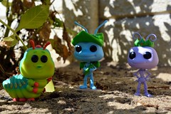 16:52 - a bugs life (ScootaCoota Photography) Tags: bugs insects ants caterpillar life funko pop vinyl garden outdoors comic movie disney characters figurines sand plant nikon photo photography 52 weeks photos 52weeks theme week16theme