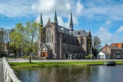 Matthias Laurentius kerk (pierre bakker) Tags: alkmaar noordholland netherlands nl church kerk kennemersingel singel gracht water sky clouds lucht wolken