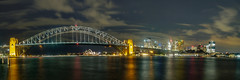 Sydney, Australia (Anthony's Olympus Adventures) Tags: mcmahonspoint sydney nsw australia city cityscape night dark lights sundown sydneyharbour bridge sydneyoperahouse milsonspoint panorama panoramic pano stunning wow beautiful cityview citycentre water sky urban longexposure afterdark