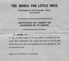 Bedwetters not wanted (theirhistory) Tags: boy child kid orphanage childrenshome form document bedwetter bedwetting