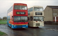 Halifax Joint Committee A637BCN & BYX273V, 2001 (Lady Wulfrun) Tags: go ahead northern mcw metrobus a637bcn ex london halifax joint committee byx273v 4th january 2001 hjc jointcommittee ryelane