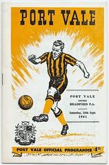 PORT VALE v BRADFORD PARK AVENUE 1961-62 (bullfield) Tags: portvale stokeontrent burslem bradfordparkavenue potteries programme football england