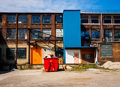 Warehouse Colors (c.poole photography) Tags: color urban warehouse rust belt toledo ohio olympus em10 1240 28 middlegrounds metropark industrial mft mu43 m43 micro four thirds