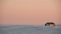 Midnight in Gjoa Haven 4 (ValterB) Tags: nikon nikond90 valterb landscape nature scenic natural sky gjoahaven nunavut canada arctic canadianarctic inuit snow frozen midnight daylight sun house view village