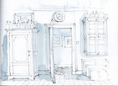 Bureau (Linda Vanysacker - Van den Mooter) Tags: watercolour visiblytalented vanysacker vandenmooter tekening sketch schets potlood pencil lindavanysackervandenmooter lindavandenmooter drawing dessin croquis crayon art aquarelle aquarell aquarel akvarell acuarela acquerello