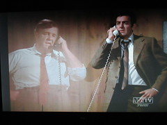 Typical Holographic Phone Conversation Mannix 4667 (Brechtbug) Tags: mike connors joe mannix phone with holographic apparition judge 1960s 1970s 60s 70s tv show episode 04222017 nyc metv new york city 2017 ghost anti split screens screen grab screengrab conversation fictitious bogus silly transparent