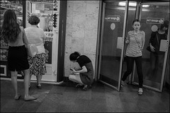 2_DSC9899_866 (dmitry_ryzhkov) Tags: door queue sit sitting tunnel crosswalk underground metro subway passenger day daylight woman women lady sony alpha black blackandwhite bw monochrome white bnw blacknwhite bnwstreet lowlightshot motion movement walk walker walkers pedestrian pedestrians low lowlight art city europe russia moscow documentary journalism street streets urban candid life streetlife citylife outdoor outdoors streetscene close scene streetshot image streetphotography candidphotography streetphoto candidphotos streetphotos moment light shadow people citizen resident inhabitant person portrait streetportrait candidportrait unposed public face