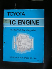 Toyota Corolla Wagon #09 Toyota 1C Engine Book uk£5.30 €6.51+€3.75 Ebay.co.uk 21-04-2017 (Lord Inquisitor) Tags: toyota corolla station wagon 1c ke70 ce70 35014 engine book blue