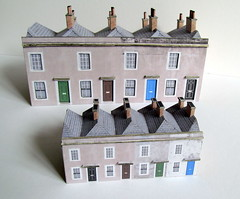 (Very) small terraced houses (kingsway john) Tags: small terraced houses georgian nterg kingsway models card kit 1148 scale