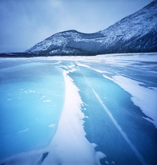 Ice (Zeb Andrews) Tags: zeroimage pinhole lensless canada canadianrockies alberta abrahamlake zeroimage2000 kodakektar100 color film filmisnotdead mediumformat 6x6 frozen winter ice mountains