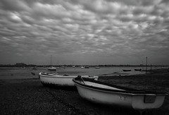 Ready and Waiting (hall1705) Tags: readyandwaiting boat harbour emsworth blackwhite infrared chain longexposure lowtide clouds seascape sea seaside shore sky mono mood