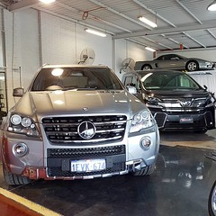 "Morning beasts #mercedes #ml63 #amg #4x4 #v8 #toyota #vellfire #hybrid #luxury #euro #japan #chauffeur #peoplemover #charter #forsale #rare #fabcar #perth #merchantsofhighoctane #drivesomethingdifferent • <a style=""font-size:0.8em;"" href=""http://www.flickr.com/photos/42053293@N04/34214353782/"" target=""_blank"">View on Flickr</a>"