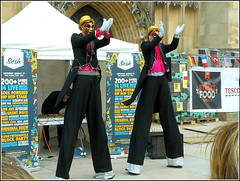 The Stiltmen. (** Janets Photos **Feeling a bit Better) Tags: uk hull citycentres events food streetlife