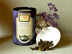 Still Life with Tea (Camomelle) Tags: blue flower cup tea taiwan can jar teapot decor loose oolong