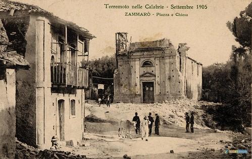 Terremoto delle Calabrie - Settembre 1905 - Zammaro' Piazza e Chiesa_L