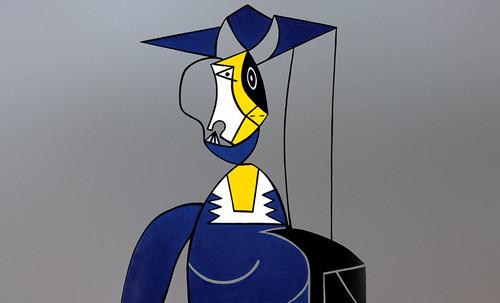 "Mujer en Gris, caracterización de Pablo Picasso (1942), recreación de Roy Lichtenstein (1962). • <a style=""font-size:0.8em;"" href=""http://www.flickr.com/photos/30735181@N00/8815851442/"" target=""_blank"">View on Flickr</a>"