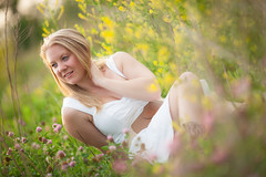 Kari (nickoplen) Tags: flowers light portrait girl field canon model dof bokeh f2 135mm wideopen 135l 5dmarkii