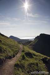 Towards the Sun (DMeadows) Tags: sky sun skye rural trek landscape island islands scotland countryside highlands path walk hike hills ridge trail highland flare isle trotternish quiraing davidmeadows dmeadows davidameadows dameadows