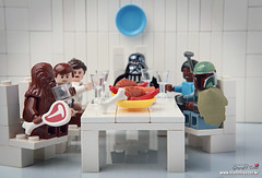 Chewie! How can you eat at a time like this? (storm TK431) Tags: starwars boba darthvader leia hansolo bespin cloudcity episode5