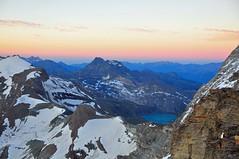 DSC_0431 (robinirooni) Tags: sunset mountain lake mountains alps ridge mountaineering matterhorn alpinism hornli