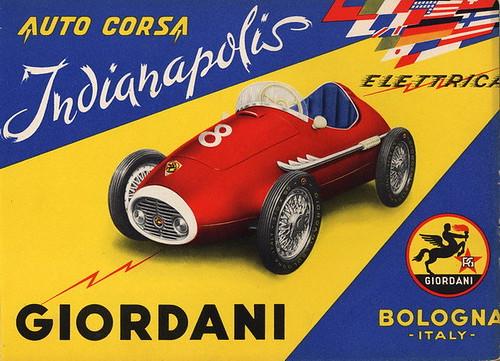 6. Auto Indianapolis Elettrica, Catalogo 1957 - Proprietà Famiglia Giordani