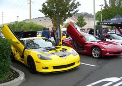 A lot of the  Corvettes here  had  (  Game Over  )  or  (  Lambo  )  doors (Bob the Real Deal) Tags: gameover corvette vallejo lambo vallejoca kodakz712