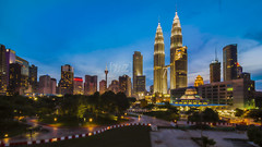 The Twin Tower | Kuala Lumpur | HDR (Mohamad Zaidi Photography) Tags: urban beauty parkinglot experimental alone nightscape malaysia bluehour hdr klcc twintower kltower blending maxis mohamadzaidiphotography adobephotoshopcc promotecontroll klccnewcarpark parkingbaruklcc