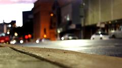 Long exposure (joshthomasfilms) Tags: city longexposure nightphotography light urban night canon long downtown pavement depthoffield firehydrant groundlevel sacramento streaks downtownsacramento jstreet t3i lightstreaks