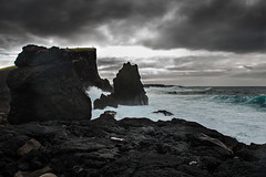 The Photographer (Tore Thiis Fjeld) Tags: ocean sea sky seascape color nature water rock clouds iceland nikon waves cliffs reykjanes d800 brakers